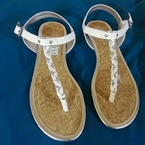 Sperry Shoes - SPERRY TOPSLIDER WHITE/SILVER GIRLS SANDALS